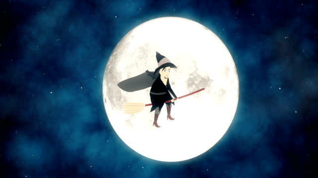4k halloween witch animation - demon fictional character stock videos & royalty-free footage
