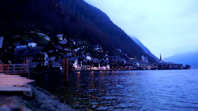 hallstatt, austria. gorgeous village in nature. - traditionally austrian stock videos & royalty-free footage