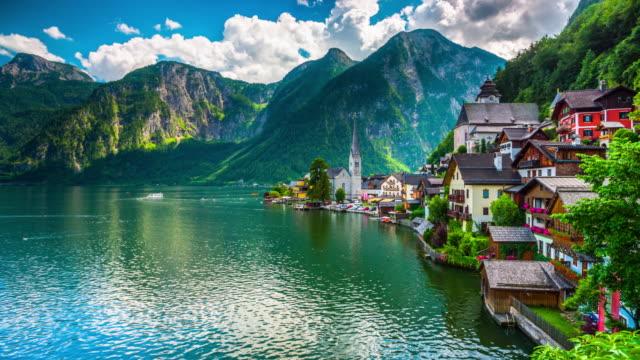 hallstatt, austria - salzkammergut stock videos and b-roll footage