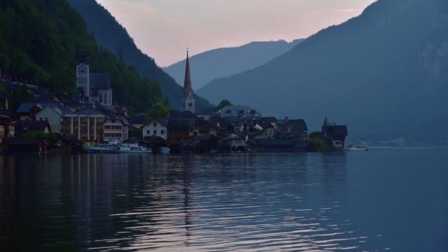 hallstatt, austria - アッパーオーストリア点の映像素材/bロール
