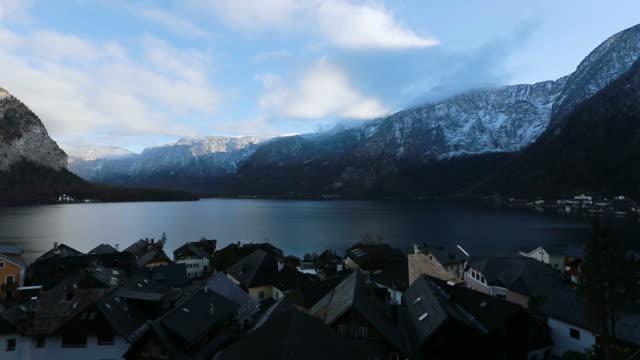 hallstatt mountain landscape - traditionally austrian stock videos & royalty-free footage