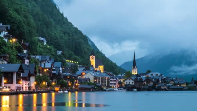 Hallstatt mountain village landscape famous view