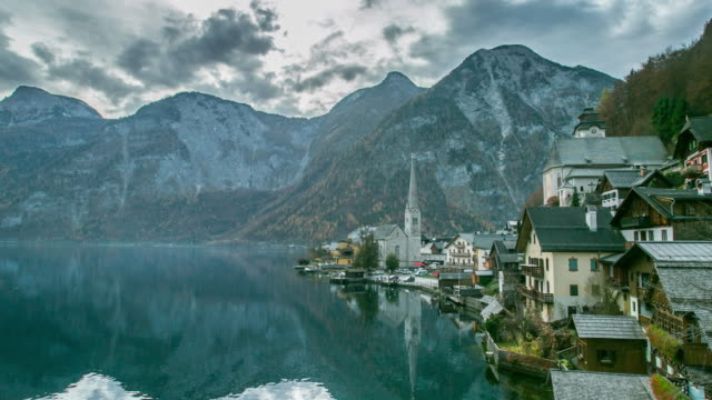 Hallstatt mountain village Landschaft