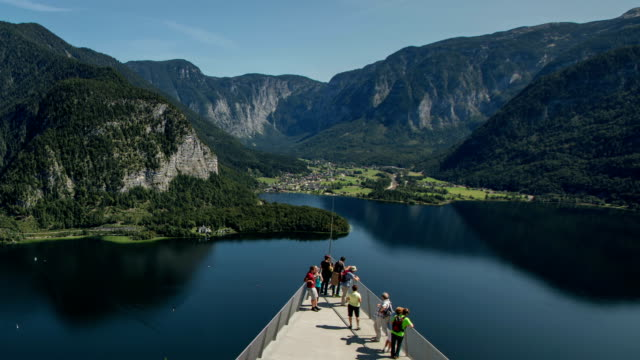 hallstatt skywalk - elevated walkway stock videos & royalty-free footage