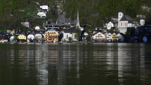 hallstatter see lake at hallstatt ,austria - traditionally austrian stock videos & royalty-free footage