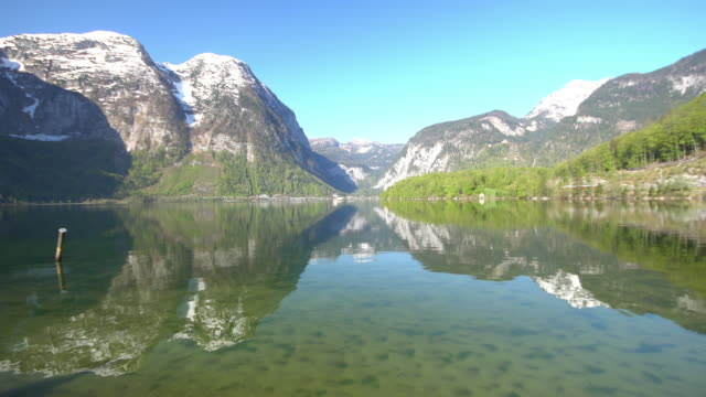 hallstatter see lake at hallstatt ,austria - austrian culture stock videos & royalty-free footage