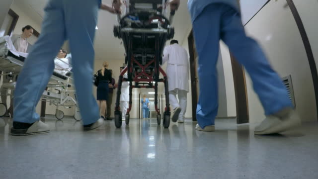 POV Hallway of a hospital department