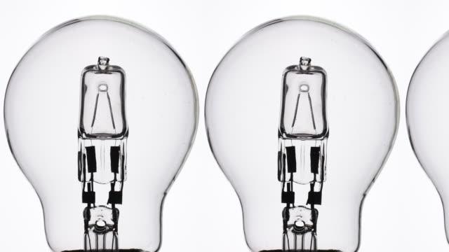 Halogen light bulbs.
