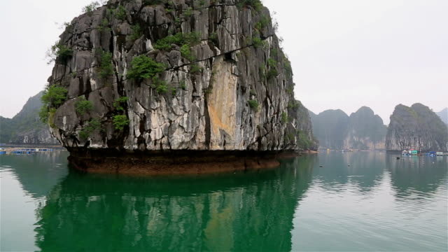 halong bay landscape, vietnam - halong bay stock videos and b-roll footage