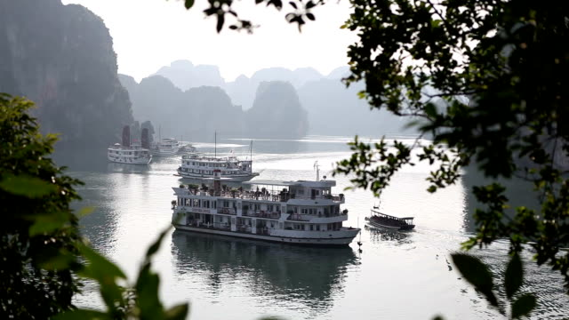 Halong Bay most famous viewpoint. Vietnam