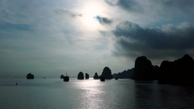 halong bay, unesco world heritage site, quang ninh province, vietnam, asia - halong bay stock videos and b-roll footage