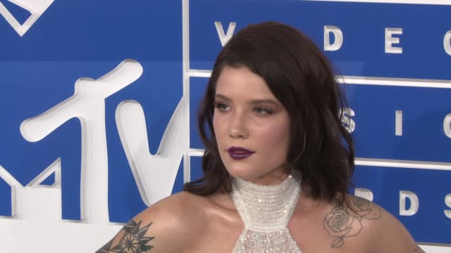 Halsey at 2016 MTV Video Music Awards Arrivals at Madison Square Garden on August 28 2016 in New York City