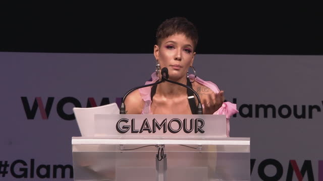 PERFORMANCE Halsey at Glamour's Women Of The Year LIVE Summit at Spring Studios on November 11 2018 in New York City