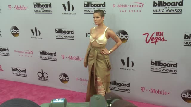 Halsey at the 2017 Billboard Music Awards Arrivals at TMobile Arena on May 21 2017 in Las Vegas Nevada
