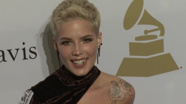 Halsey at the 2017 PreGrammy Gala Honoring Debra L Lee With Grammy Salute To Industry Icons Award at The Beverly Hilton Hotel on February 11 2017 in...