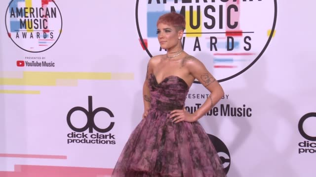 Halsey at the 2018 American Music Awards at Microsoft Theater on October 09 2018 in Los Angeles California