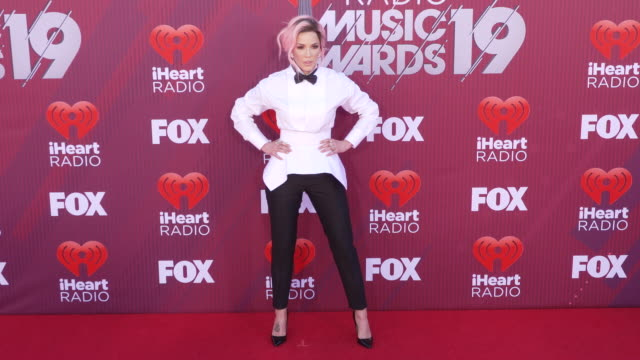 Halsey at the 2019 iHeartRadio Music Awards at Microsoft Theater on March 14 2019 in Los Angeles California