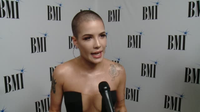 INTERVIEW Halsey on the event at 65th Annual BMI Pop Awards in Los Angeles CA