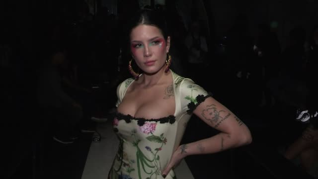 halsey, tyga, sita abellan, cindy bruna front row for the y project spring summer 2020 fashion show in paris paris, france on thursday september 26,... - paris fashion week stock videos & royalty-free footage
