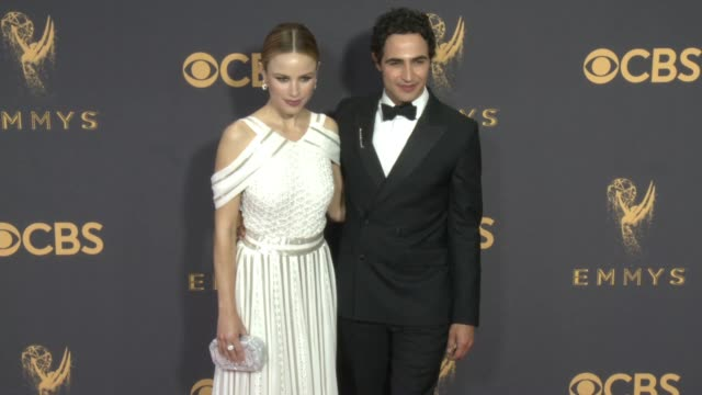 halston sage and zac posen at the 69th annual primetime emmy awards at microsoft theater on september 17 2017 in los angeles california - halston stock videos & royalty-free footage
