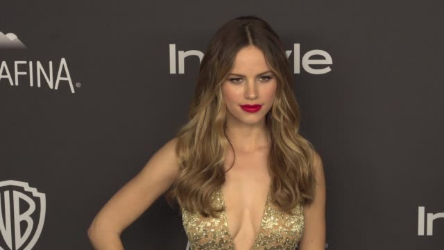 halston sage at 17th annual instyle and warner bros pictures golden globe afterparty at the beverly hilton hotel on january 10 2016 in beverly hills... - halston stock videos & royalty-free footage