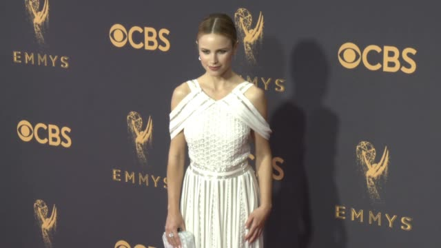 halston sage at the 69th annual primetime emmy awards at microsoft theater on september 17 2017 in los angeles california - halston stock videos & royalty-free footage