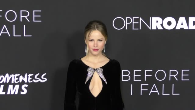 halston sage at the 'before i fall' premiere on march 01 2017 in west hollywood california - halston stock videos & royalty-free footage