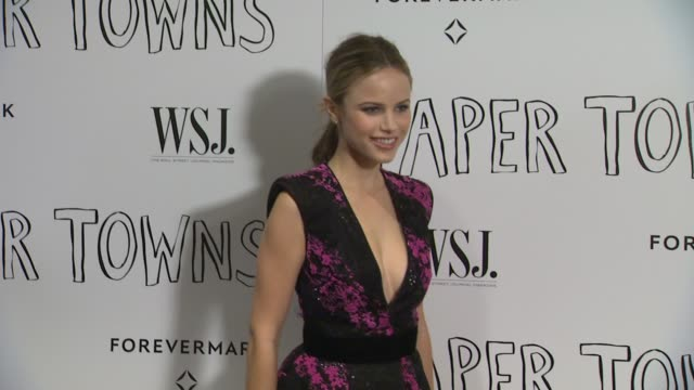 halston sage at the paper towns los angeles premiere at the london hotel on july 18 2015 in west hollywood california - halston stock videos & royalty-free footage