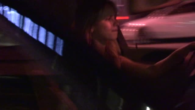 halston sage departs rag bone in los angeles 10/26/12 - halston stock videos & royalty-free footage
