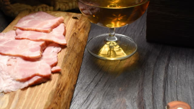 ham and brandy - brandy snifter stock videos and b-roll footage