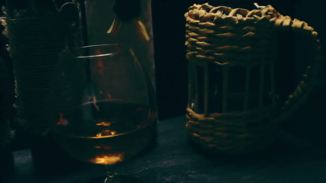 ham and wine - brandy snifter stock videos and b-roll footage