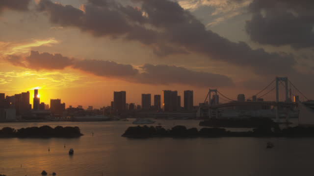 hamamatsu-cho and rainbow bridge - hamamatsu stock videos and b-roll footage