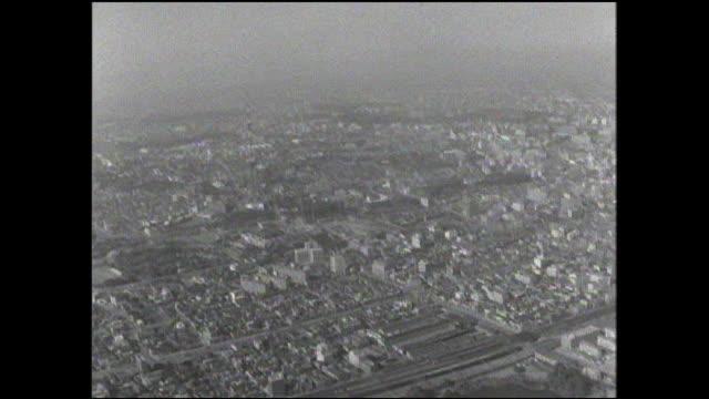 hamarik-yu can be seen through the fog from tokyo tower. - black and white点の映像素材/bロール