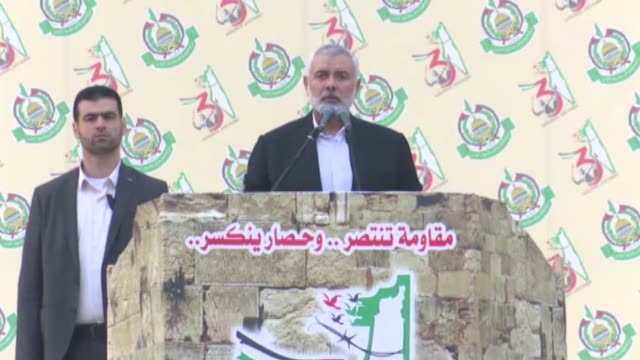 hamas chief ismail haniyeh affirmed on sunday his willingness to meet palestinian president mahmoud abbas at any place to discuss internal... - hamas stock videos & royalty-free footage