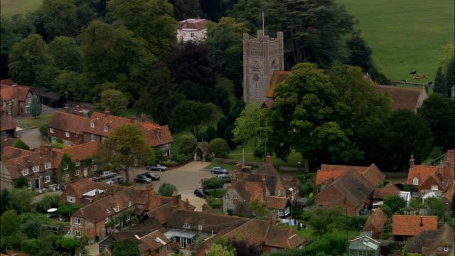 ハンブルトン-航空写真イングランド、バッキンガムシャー、ウィルコム、イギリス - バッキンガムシャー点の映像素材/bロール