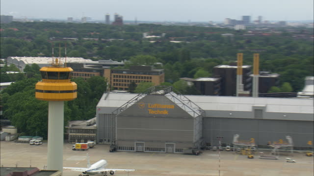 hamburg airport and lufthansa technical base - flughafen stock videos & royalty-free footage