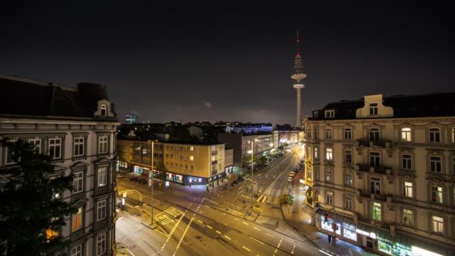 zeitraffer: hamburg city - hamburg stock-videos und b-roll-filmmaterial