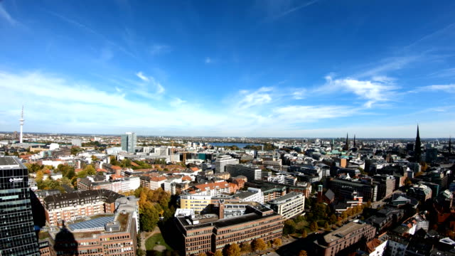 hamburg cityscape - communications tower stock videos & royalty-free footage