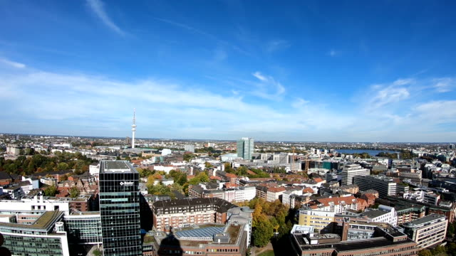 hamburg cityscape - germany stock videos & royalty-free footage