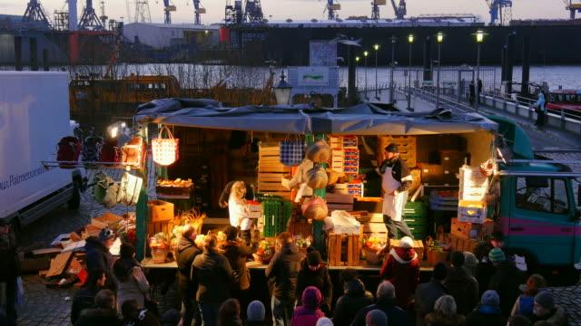 hamburg fish market, altona, hamburg, germany - fish market stock videos and b-roll footage