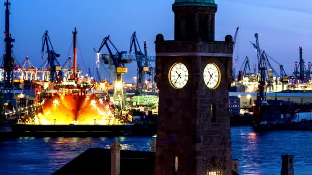 hamburg harbour - hamburg germany stock videos & royalty-free footage