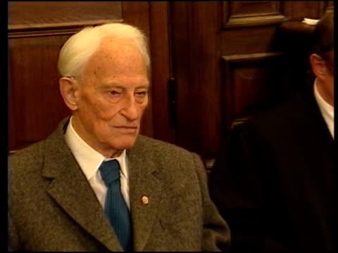 hamburg friedrich engel sitting in court during war crimes trial - gerichtsverhandlung stock-videos und b-roll-filmmaterial