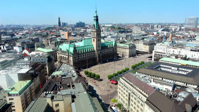 hamburg town hall - town hall stock videos & royalty-free footage