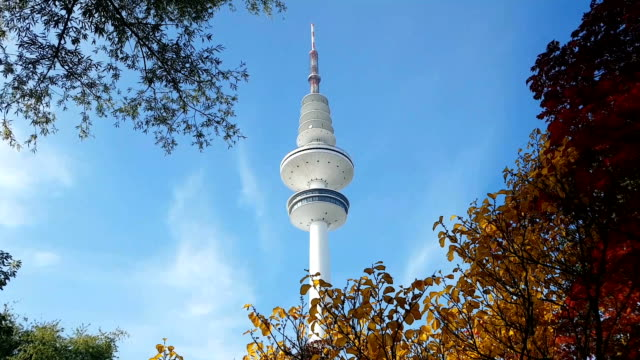 hamburg tv tower - radio broadcasting stock videos and b-roll footage