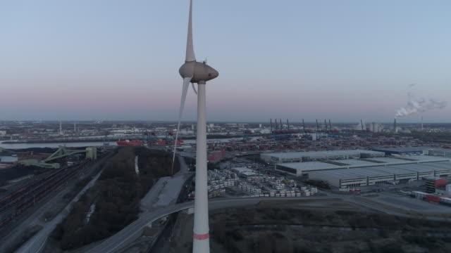 Hamburg wind generator aerial