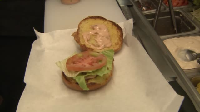 KTLA Hamburger Prepared at Local Restaurant
