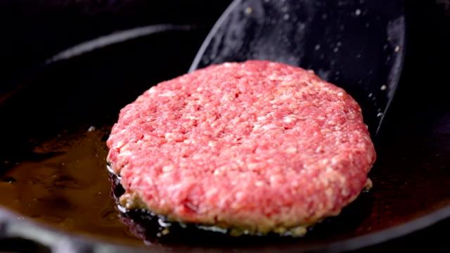 hamburger steak - cast iron stock videos and b-roll footage