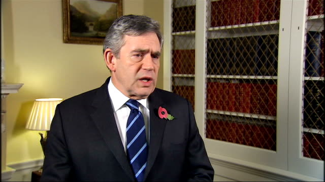 hamid karzai agrees to run-off presidential election; england: london: int gordon brown mp interview sot - there has been fraud in the election,... - runoff election stock videos & royalty-free footage