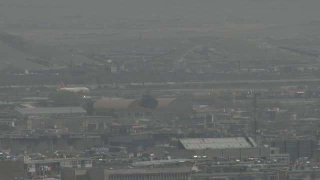 hamid karzai international airport runway - afghanistan stock videos & royalty-free footage