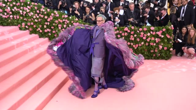 Hamish Bowles at The 2019 Met Gala Celebrating Camp Notes on Fashion Arrivals at Metropolitan Museum of Art on May 06 2019 in New York City